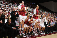 STANFORD, CA - DECEMBER 19:  Sarah Boothe, Melanie Murphy, Hannah Donaghe, Mikaela Ruef, Grace Mashore, Ashley Cimino, Michelle Harrison and Rosalyn Gold-Onwude during Stanford's 67-52 win over the Tennessee Lady Volunteers on December 19, 2009 at Maples Pavilion in Stanford, California.