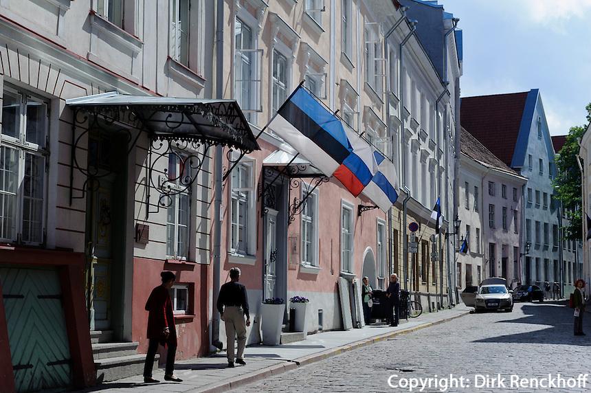 Straße Pikk in Tallinn (Reval), Estland, Europa, Unesco-Weltkulturerbe