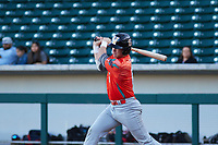 Zachary Morris (6) of St. Joseph High School in Santa Maria, California during the Baseball Factory All-America Pre-Season Tournament, powered by Under Armour, on January 13, 2018 at Sloan Park Complex in Mesa, Arizona.  (Freek Bouw/Four Seam Images)