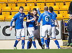 St Johnstone v Motherwell....25.02.14    SPFL<br /> Steven MacLean celebrates his second goal<br /> Picture by Graeme Hart.<br /> Copyright Perthshire Picture Agency<br /> Tel: 01738 623350  Mobile: 07990 594431