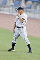 July 11, 2009:  First Base Coach Tim McIntosh of the Tampa Yankees during a game at Dunedin Stadium in Dunedin, FL.  Tampa is the Florida State League High-A affiliate of the New York Yankees.  Photo By Mike Janes/Four Seam Images