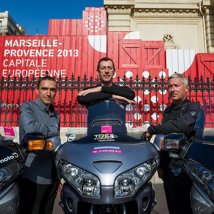 Didier Heurtier, pdt de L'union française de transports à moto- CCIMP -Marseille