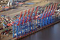 Containerbruecken: EUROPA, DEUTSCHLAND, HAMBURG, (EUROPE, GERMANY), 07.01.2018 Containerbruecken