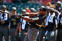 Will Benson (24) of The Westminster Schools in Atlanta, Georgia during the home run derby before the Under Armour All-American Game on August 15, 2015 at Wrigley Field in Chicago, Illinois. (Mike Janes/Four Seam Images)