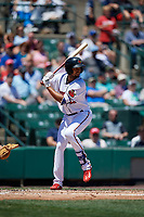 Rochester Red Wings second baseman Leonardo Reginatto (11) bats during a game against the Scranton/Wilkes-Barre RailRiders on June 7, 2017 at Frontier Field in Rochester, New York.  Scranton defeated Rochester 5-1.  (Mike Janes/Four Seam Images)