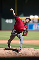 Arizona Diamondbacks relief pitcher Edwin Quezada (45) delivers a pitch to the plate during an Instructional League game against the Kansas City Royals at Chase Field on October 14, 2017 in Phoenix, Arizona. (Zachary Lucy/Four Seam Images)
