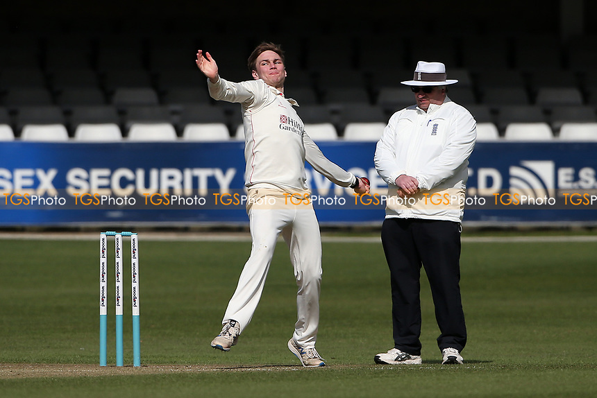 Jack Morley in bowling action for Lancashire during Essex CCC vs Lancashire CCC, Friendly Match Cricket at The Cloudfm County Ground on 25th March 2021