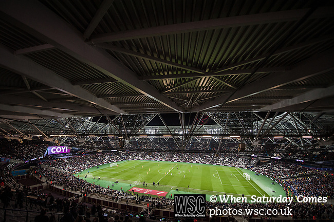 West Ham United 0 Brighton & Hove Albion 3, 20/10/2017. London Stadium, Premier League.  A general view of the London Stadium. Photo by Simon Gill.