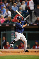 Pawtucket Red Sox center fielder Tzu-Wei Lin (60) at bat during a game against the Buffalo Bisons on August 31, 2017 at Coca-Cola Field in Buffalo, New York.  Buffalo defeated Pawtucket 4-2.  (Mike Janes/Four Seam Images)