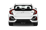 Straight rear view of 2020 Honda Civic-Hatchback Sport-Touring 5 Door Hatchback Rear View  stock images