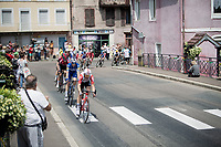 Maxime Monfort (BEL/Lotto-Soudal) leading the peloton through the corner<br /> <br /> Stage 7: Belfort to Chalon-sur-Saône(230km)<br /> 106th Tour de France 2019 (2.UWT)<br /> <br /> ©kramon