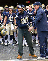 Pitt head coach Paul Chryst and senior linebacker Manny Williams. The Pitt Panthers defeat the Rutgers Scarlet Knights 27-6 on Saturday, November 24, 2012 at Heinz Field , Pittsburgh, PA.