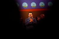 Manifestazione della Lega con Matteo Salvini nel Teatro Agusteo di Napoli