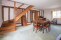 BNPS.co.uk (01202) 558833. <br /> Pic: Cheffins/BNPS<br /> <br /> Pictured: Dining room. <br /> <br /> The perfect home for a recluse?<br /> <br /> A historic moated farmhouse that has not been sold for half a century is up for auction with a guide price of £600,000.<br /> <br /> Grade II listed Parsonage Farm is an English Heritage scheduled monument and is believed to be built on the site of an iron age fort.<br /> <br /> The house dates back to the 15th century and, having been in the same family for the past 50 years, is now in need of modernisation.<br /> <br /> But once renovated it could be worth £1.2m - double its current price tag.