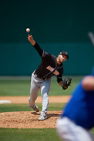Jupiter Hammerheads relief pitcher Colton Hock (11) during a Florida State League game against the Dunedin Blue Jays on May 16, 2019 at Jack Russell Memorial Stadium in Clearwater, Florida.  Dunedin defeated Jupiter 1-0.  (Mike Janes/Four Seam Images)