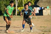 Mato Grosso State, Brazil. Aldeia Metuktire. Football.