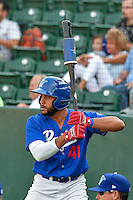Jared Walker (41) of the Ogden Raptors waits to bat during the game against the Idaho Falls Chukars in Pioneer League action at Lindquist Field on September 3, 2016 in Ogden, Utah. The Chukars defeated the Raptors 3-0. (Stephen Smith/Four Seam Images)
