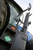 Germany, New Holland Tractor powered by BioMethan gas CNG / DEUTSCHLAND, Damnatz im Wendland, Hof und Biogasanlage von Horst Seide, neuer New Holland Traktor T6.180 mit Methanpower mit Gasmotor und Biomethan bzw. CNG Gas Antrieb im Test