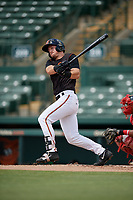 GCL Orioles Doran Turchin (53) bats during a Gulf Coast League game against the GCL Red Sox on July 29, 2019 at Ed Smith Stadium in Sarasota, Florida.  GCL Red Sox defeated the GCL Pirates 9-1.  (Mike Janes/Four Seam Images)
