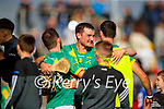 Kilmoyley players celebrate after the County Senior hurling Final between Kilmoyley and Saint Brendan's at Austin Stack park on Sunday.