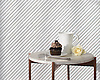 Corduroy, a hand-cut stone mosaic, shown in Venetian honed Thassos and Shell, is part of the Tissé® collection for New Ravenna.