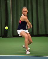 Rotterdam, The Netherlands, 07.03.2014. NOJK ,National Indoor Juniors Championships of 2014, Romy Kerkhove (NED)  <br /> Photo:Tennisimages/Henk Koster