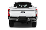 Straight rear view of 2017 Ford F-250 Lariat-Crew-Cab 4 Door Pickup Rear View  stock images