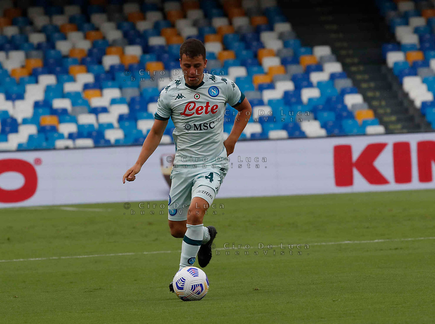 Diego Demme  during a friendly match Napoli - Pescara  at Stadio San Paoli in Naples