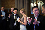 © Joel Goodman - 07973 332324 - all rights reserved . No onward sale/supply/syndication permitted . 28/07/2016 . Manchester , UK . Guests at the launch of the St Michael's city centre development , at the Lord Mayor's Parlour in Manchester Town Hall . Backed by The Jackson's Row Development Partnership (comprising Gary Neville , Ryan Giggs and Brendan Flood ) along with Manchester City Council , Rowsley Ltd and Beijing Construction and Engineering Group International , the Jackson's Row area of the city centre will be redeveloped with a design proposed by Make Architects . Photo credit : Joel Goodman
