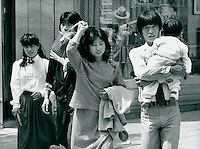 Familie in Seoul, Korea 1986