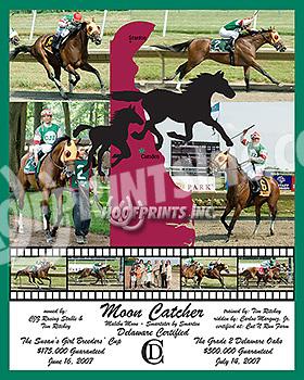 Moon Catcher multiple stakes winner & DE Certified
