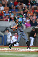Jensen Park (12) of the Boise Hawks bats during a game against the Hillsboro Hops at Ron Tonkin Field on August 21, 2015 in Hillsboro, Oregon. Boise defeated Hillsboro, 7-1. (Larry Goren/Four Seam Images)