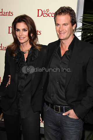 Cindy Crawford and Rande Gerber at the Los Angeles Premiere of 'The Descendants' at AMPAS Samuel Goldwyn Theater on November 15, 2011 in Beverly Hills, California ©mpi21/MediaPunch Inc.