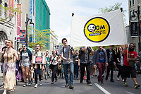 Poeple take part in Anti-Monsanto Global March – Montreal in downtown Montreal on May 25, 2014 and i other cities around the world.