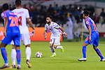 Komail Hasan Alaswad of Bahrain in action during the AFC Asian Cup UAE 2019 Group A match between India (IND) and Bahrain (BHR) at Sharjah Stadium on 14 January 2019 in Sharjah, United Arab Emirates. Photo by Marcio Rodrigo Machado / Power Sport Images