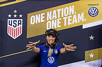 CHARLOTTE, NC - OCTOBER 3: DJ Amy Robbins during a game between Korea Republic and USWNT at Bank of America Stadium on October 3, 2019 in Charlotte, North Carolina.