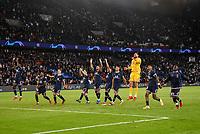 28th September 2021, Parc des Princes, Paris, France: Champions league football, Paris-Saint-Germain versus Manchester City:   PSG players celebrate their 2-0 win