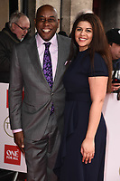 Ainsley Harriott and daughter<br /> arriving for theTRIC Awards 2020 at the Grosvenor House Hotel, London.<br /> <br /> ©Ash Knotek  D3561 10/03/2020