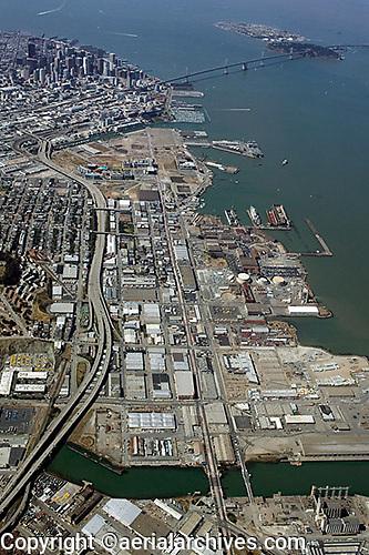 aerial photograph Central waterfront, Potrero Hill, Mission Bay,San Francisco, California