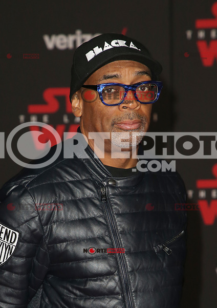 LOS ANGELES, CA - DECEMBER 9: Spike Lee, at Premiere Of Disney Pictures And Lucasfilm's 'Star Wars: The Last Jedi' at Shrine Auditorium in Los Angeles, California on December 9, 2017. Credit: Faye Sadou/MediaPunch /NortePhoto.com NORTEPHOTOMEXICO