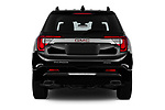 Straight rear view of 2020 GMC Acadia Denali 5 Door SUV Rear View  stock images
