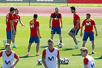 Spain's Diego Costa, Gerard Deulofeu, Pedro Rodriguez, Andres Iniesta, Sergio Busquets, Jordi Alba, Asier Illarramendi, Vitolo and Nacho Monreal during training session. June 5,2017.(ALTERPHOTOS/Acero)