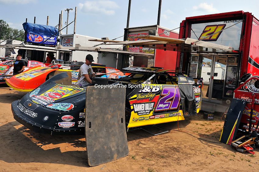 Aug 5, 2010; 3:07:34 PM; New Richmond, WI., USA; The 23rd Annual USA Nationals presented by U.S. Steel Corporation running a 50,000-to-win World of Outlaws Dirt Late Model Series sanctioned event at Cedar Lake Speedway.  Mandatory Credit: (thesportswire.net)