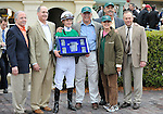 30 January 2009: The connections of Capt. Candyman Can accept the winner's trophy after the colt wins the 53rd running of the Grade 2 Hutcheson Stakes for three-year-olds at Gulfstream Park in Hallandale, Florida.