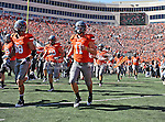 Oklahoma State Cowboys kicker Wes Harlan (11) in action during the game between the Baylor Bears and the Oklahoma State Cowboys at the Boone Pickens Stadium in Stillwater, OK. Oklahoma State defeats Baylor 59 to 24.