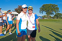 6th September 2021: Toledo, Ohio, USA;  Leona Maguire of Team Europe poses for a photo with her sister Lisa Maguire after winning the Solheim Cup on September 6, 2021 at Inverness Club in Toledo, Ohio.   Europe retained the Solheim Cup with a hard-fought 15-13 victory over the United States