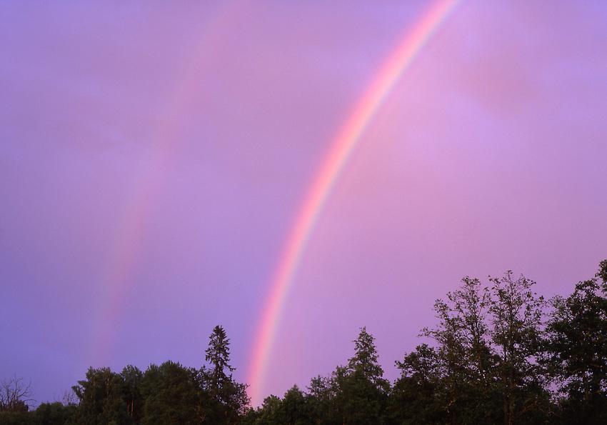Europe, SWE, Sweden, Darlana, Duble Rainbow