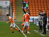 Blackpool's Rob Apter makes his senior debut<br /> <br /> Photographer Dave Howarth/CameraSport<br /> <br /> EFL Trophy - Northern Section - Group G - Blackpool v Leeds United U21 - Wednesday 11th November 2020 - Bloomfield Road - Blackpool<br />  <br /> World Copyright © 2020 CameraSport. All rights reserved. 43 Linden Ave. Countesthorpe. Leicester. England. LE8 5PG - Tel: +44 (0) 116 277 4147 - admin@camerasport.com - www.camerasport.com