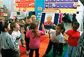 MR/ Schenectady, New York.Yates Arts Magnet School / Pre-Kindergarten.Students move to music in classroom..MR:YS-7-PK      FC#:23048-00517.scan form slide.© Ellen B. Senisi