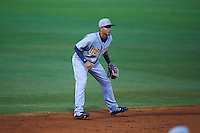 Montgomery Biscuits shortstop Willy Adames (12) during a game against the Chattanooga Lookouts on May 2, 2016 at AT&T Field in Chattanooga, Tennessee.  Chattanooga defeated Montgomery 9-6.  (Mike Janes/Four Seam Images)